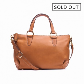 IT PARIS:Camel leather shoulder and handbag