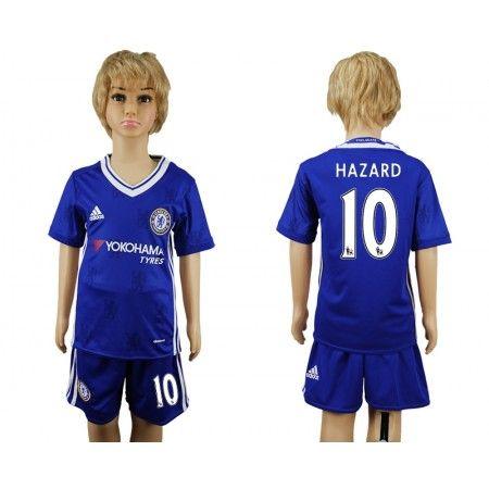 Chelsea Trøje Børn 16-17 Eden #Hazard 10 Hjemmebanetrøje Kort ærmer,199,62KR,shirtshopservice@gmail.com