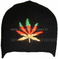 Knitted embroidered logo hats