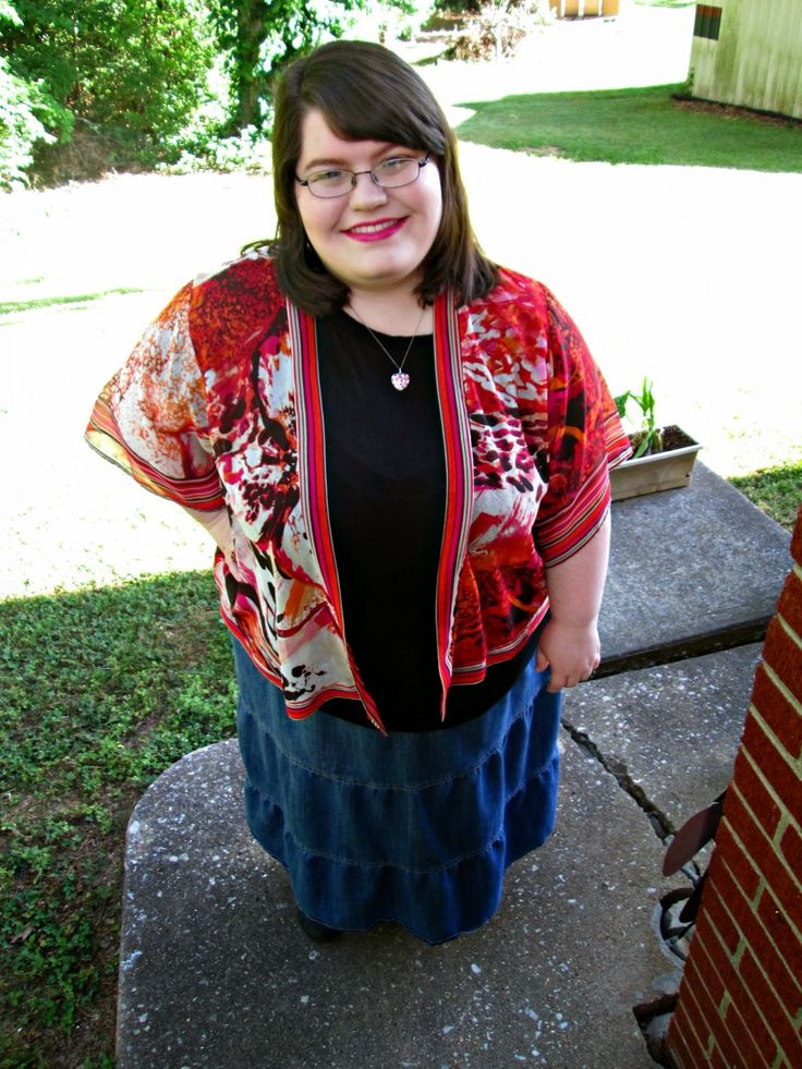 Unique Geek: Plus Size OOTD: Floral Kimono #plussizefashionblogger #plussizeoutfit #plussize
