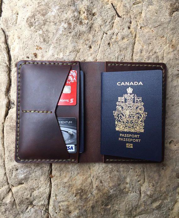 Leather Passport Case - PASSEPORT 7 by VIDA VIDA FHvpTBq