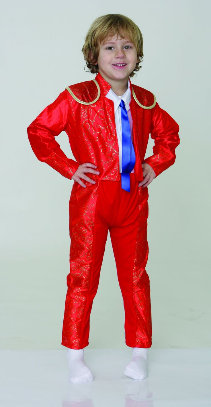 Disfraz torero rojo infantil