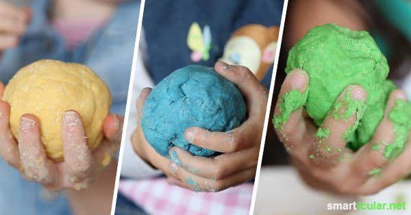 Essbare Spielknete für Kinder - einfach und preiswert selbermachen, ganz ohne kochen