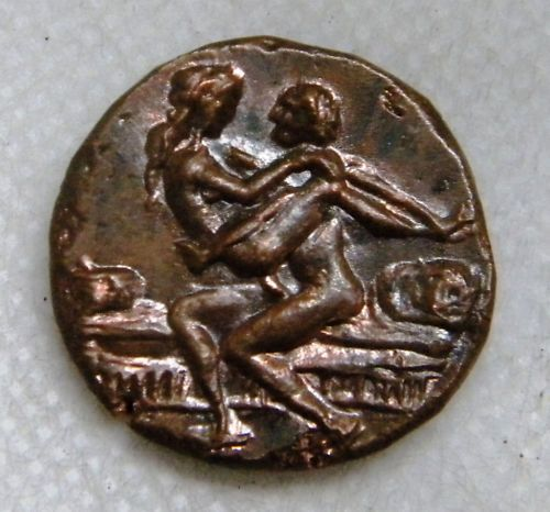 Roman coins used as tokens for entrance in Roman brothels