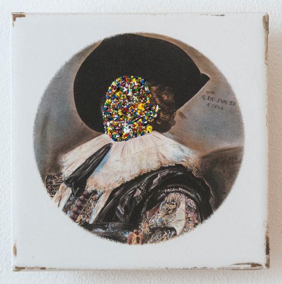 Rory Emmett, 'Tile' (2015), Oil on ceramic tile, 15.2 x 15.2cm