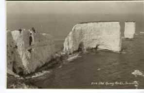E A Sweetman Postcard - 5718 Old Harry Rocks, Swanage