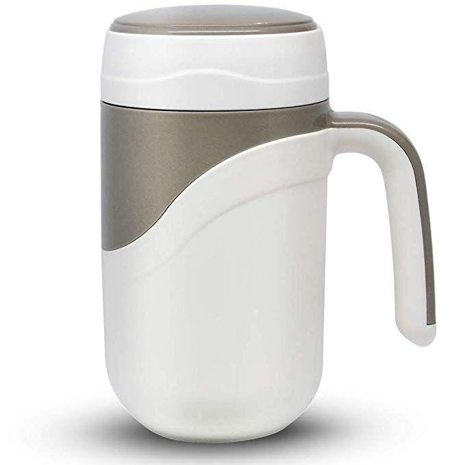 Ceramic Spill Proof Travel Mug Ceramic Lined Coffee Mug On The Go Travel Coffee Mug With Lid And Handle 12 Ounce Office Mug Whit Coffee Travel Coffee Mugs Mugs
