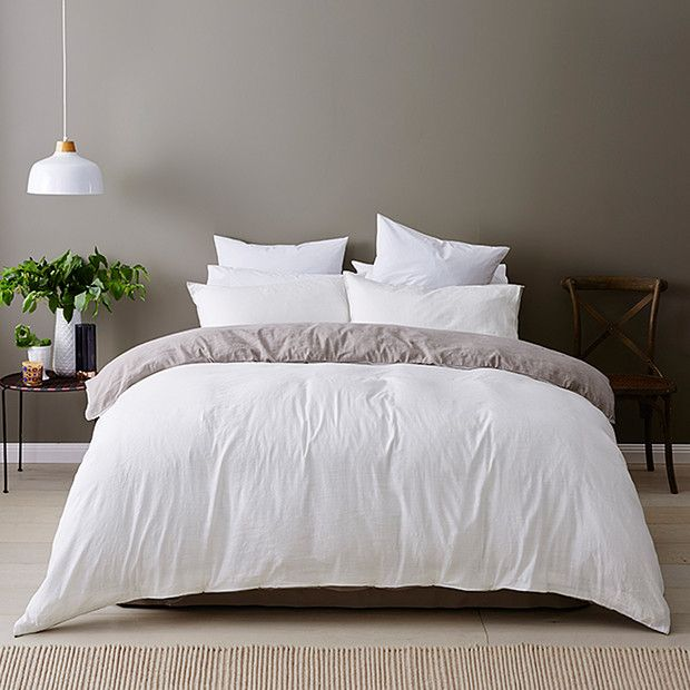 Linen Cotton Quilt Cover Set - White | Target Australia