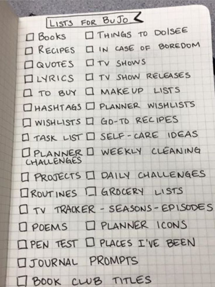 making BuJo #lists