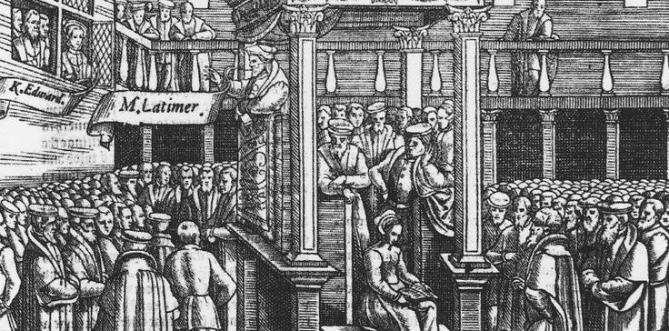 El rey Enrique VIII le ordenó venir para predicar de nuevo el siguiente domingo…