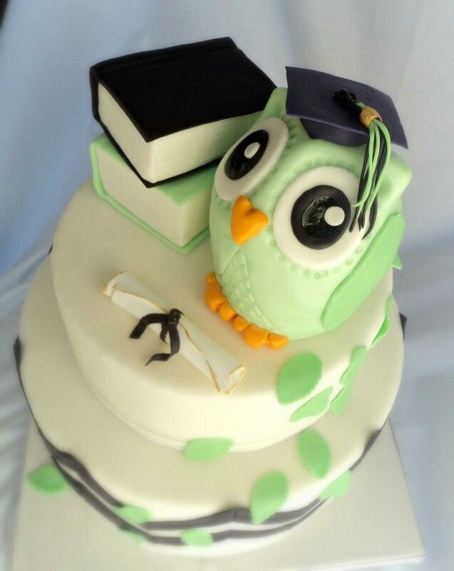 Owl Graduation Cake Cake Decorating Ideas Pinterest