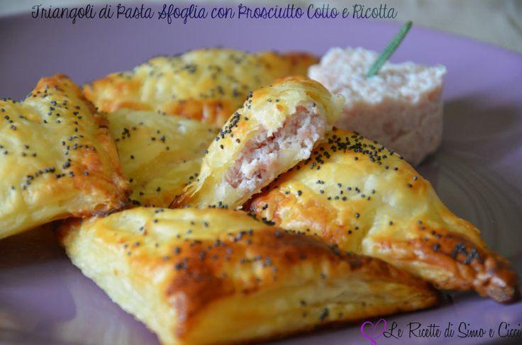 Triangoli di Pasta Sfoglia ripieni con Prosciutto Cotto