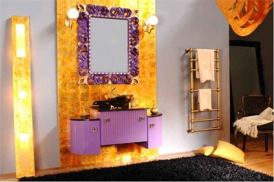 Bathroom Furniture With Gold Finish Artemide By Gb Nuove Linee Bagno