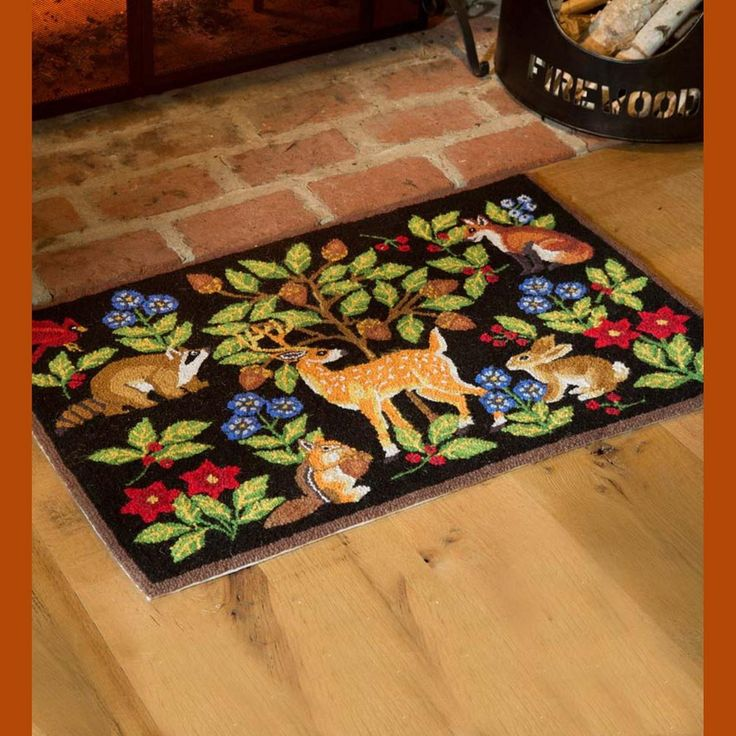 Hooked Wool Woodland Animals Area Rug Plow Amp Hearth