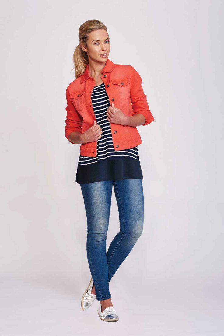THREADZ - Coloured Denim Jacket