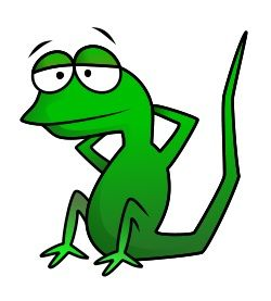 Relax cartoon lizard. Our goal is to draw you! Period! :)