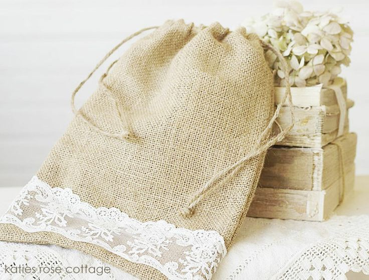 Burlap & Lace 12 x 8 Bag