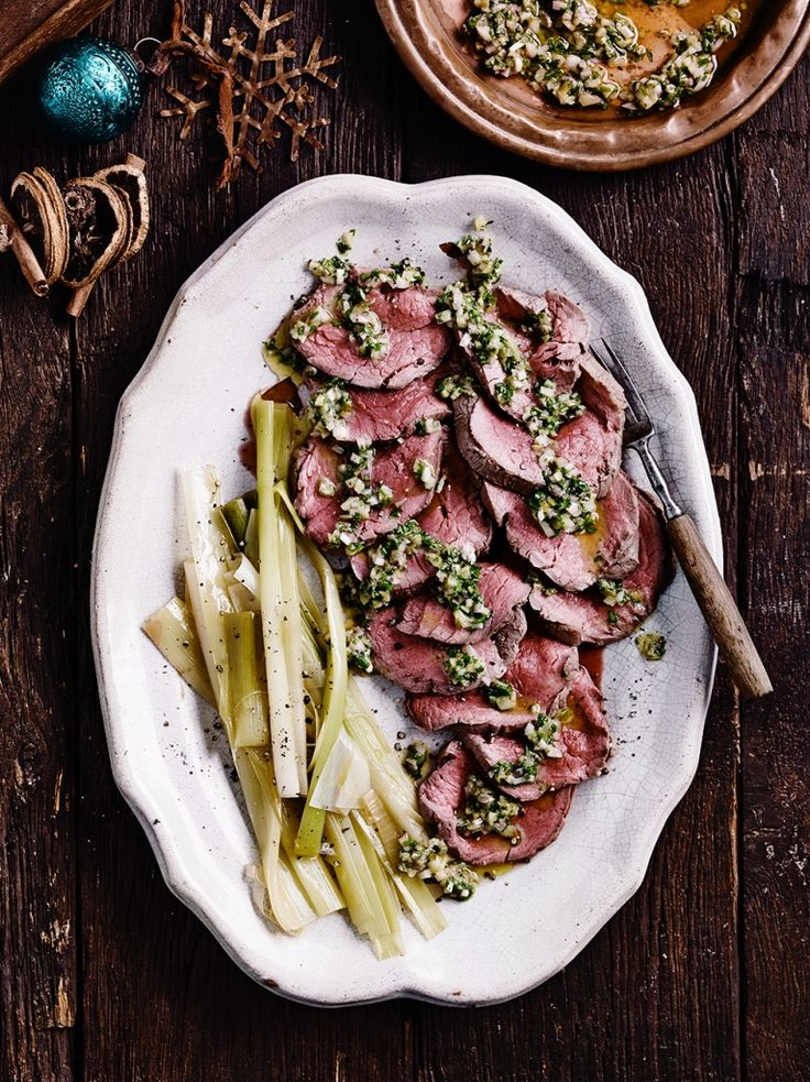 Poached Beef with Herb Vinaigrette | Beef Recipes | Jamie Oliver
