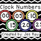These colorful chevron clock numbers will brighten up your room while assisting young learners with telling time.  Please check out my other Primar...