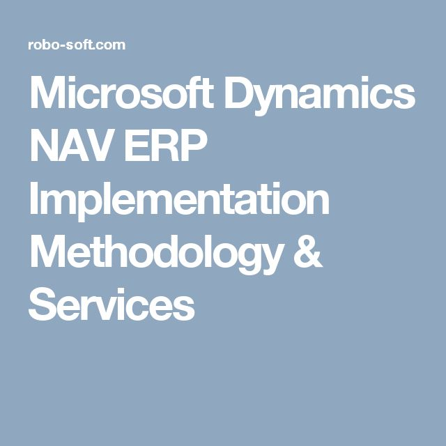Microsoft Dynamics NAV ERP Implementation Methodology & Services
