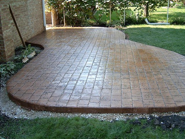 Colored Concrete Patio | Colored & Stamped Concrete Patio | Flickr - Photo Sharing!