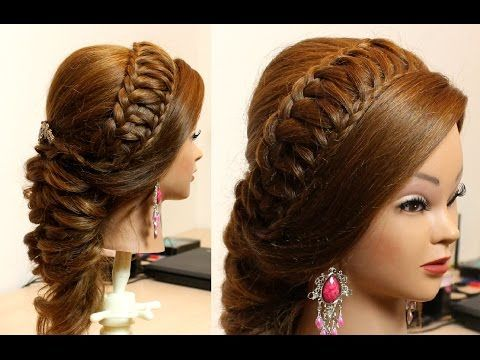 Woven Knot Half Up Hair Style | Princess and Prom Hairstyle | Wedding Homecoming Hairstyles - YouTube