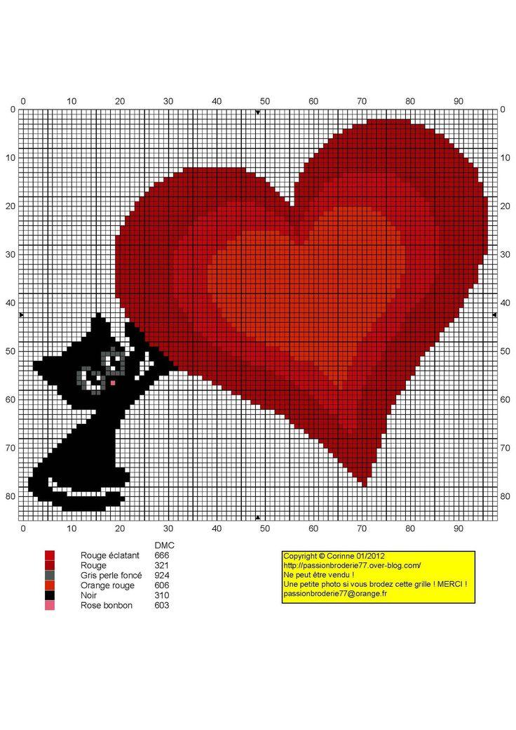 chat coeur - Photo de Anciens Free Chats, Chiens - Mes petites croix et moi !