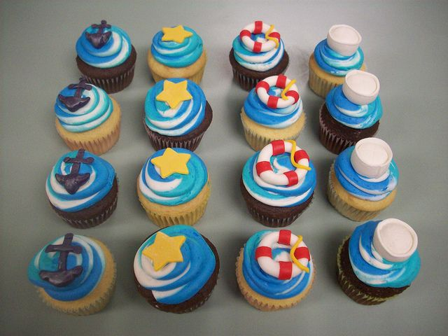u s navy themed cupcakes | Navy Cupcakes | Flickr - Photo Sharing!