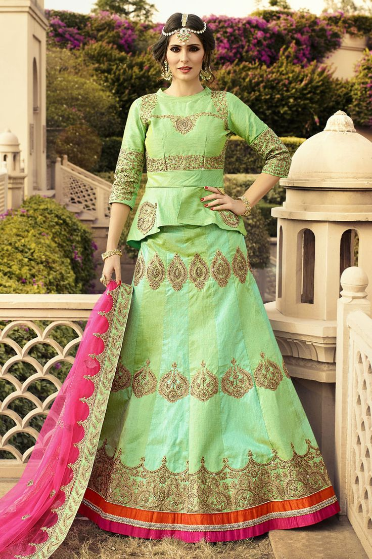 #StyleOfTheDay Buy This Parrot Green Raw Silk Heavy Embroidery Work Designer Bridal Lehenga Choli. Buy Now:- http://www.lalgulal.com/lehenga-choli/parrot-green-raw-silk-heavy-embroidery-work-designer-bridal-lehenga-choli-699 #CashOnDelivery & #FreeShipping only in India. For Other Query Just Whatsapp Us on +91-9512150402 Or Mail Us at info@lalgulal.com.