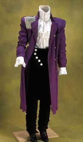 Clothing worn by Prince in the movie Purple Rain, 1984. Accession No.: 1987.124.1-5 Gift of PRN Productions.   Featured on Minnesota Historical Society's Collections Up Close blog.