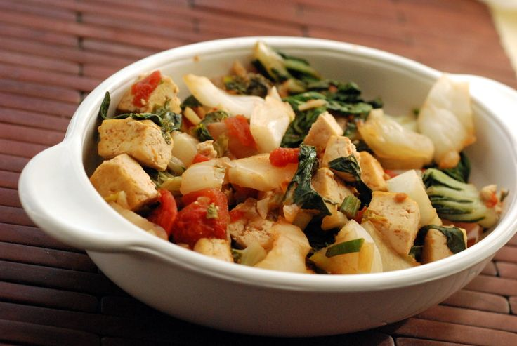 Chinese Baby Bok Choy and Tofu Stirfry (& a vegan FODMAPS diet for IBS)