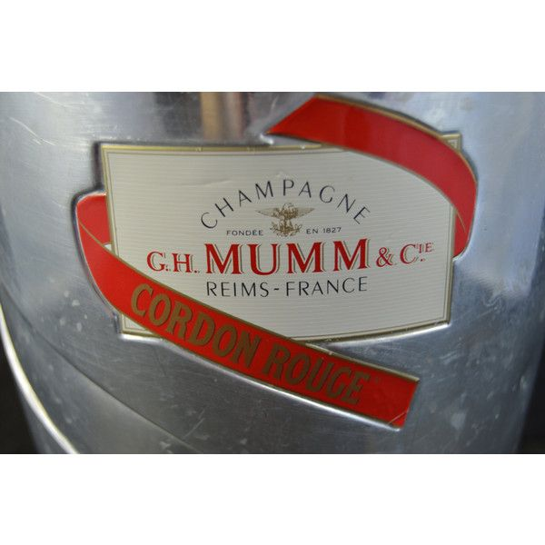 Vintage French Champagne Bucket silver Metal Champagne Ice Bucket... (€55) ❤ liked on Polyvore featuring home, kitchen & dining, bar tools, champagne ice bucket, champagne chiller, champagne bucket and champagne cooler