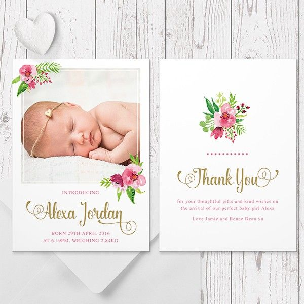63 best Birth Announcements for LITTLE GIRLS images – Birth Announcement Cards Australia