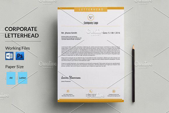 35 best Letter Head images on Pinterest Letterhead, Letterhead - letterhead example