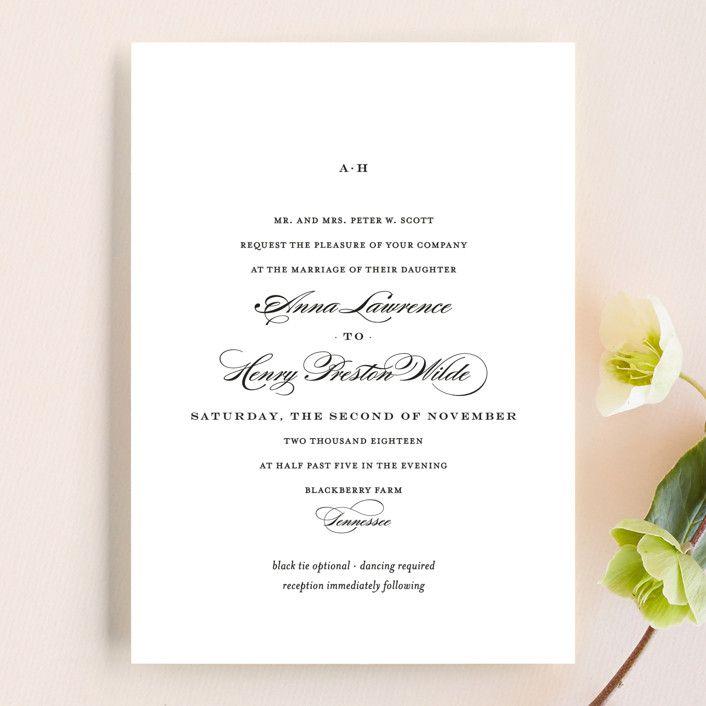 Field Simple Elegant Wedding Invitations In Ash By Toast Laurel Wedding Invitations Customizable Wedding Invitations Elegant Wedding Invitations