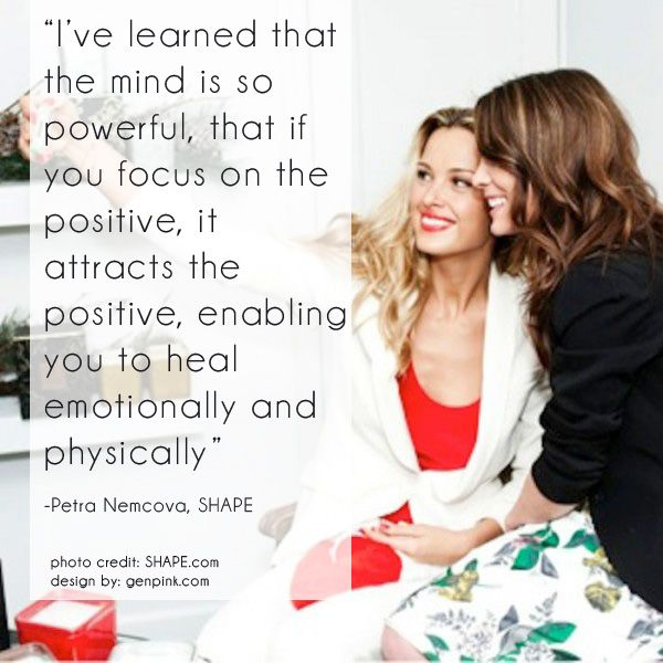 Quote on Focusing on the Positive - GenPink
