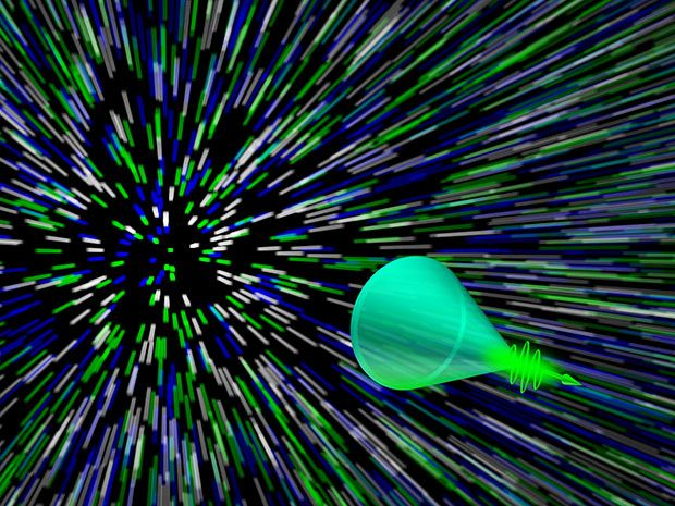 System captures Mach cone from laser pulse