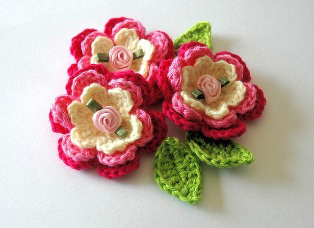 pretty crochet flower