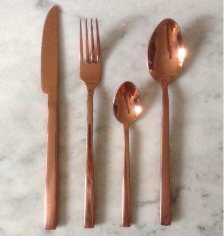 Amazing Rose Gold Cutlery Sized