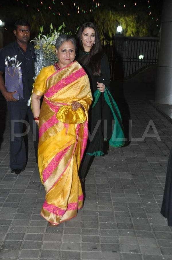 Jaya Bachchan & Aishwarya Rai Bachchan are seen at director Subhash Ghai's wife, Rehana's birthday bash. Aishwarya's mother, Vrinda Rai was also in attendance.