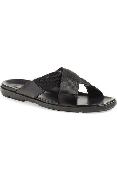 PRADA Slide Sandal (Men). #prada #shoes #sandals