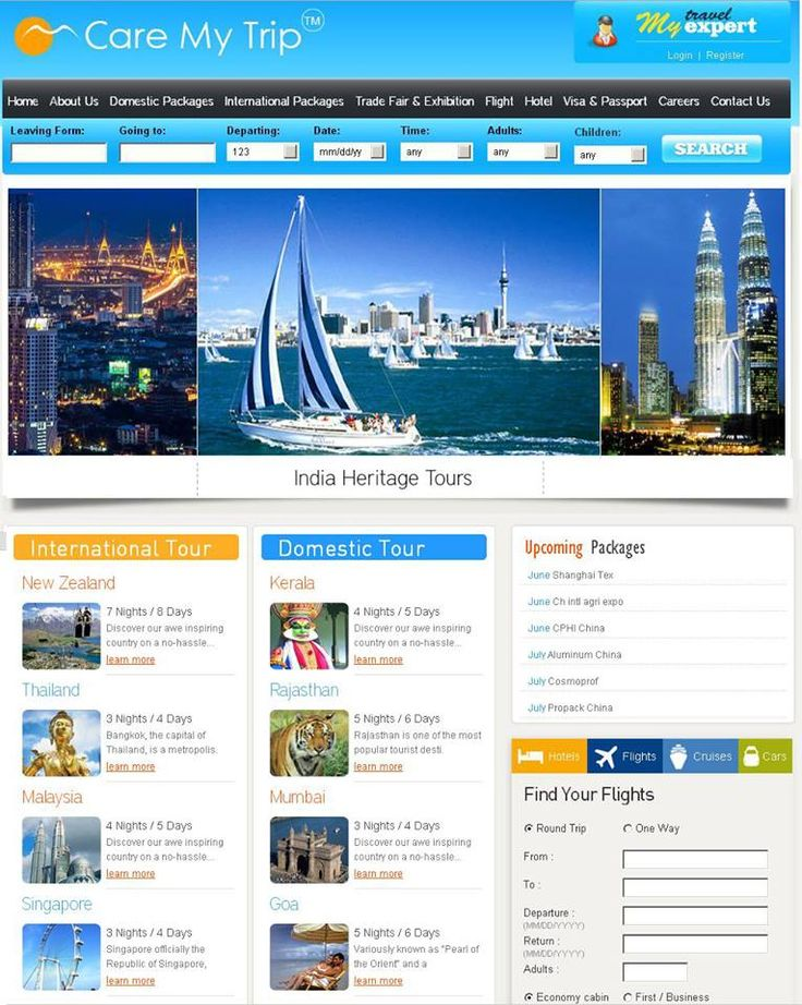 #Tour & #Travel Website Design by our experts designers