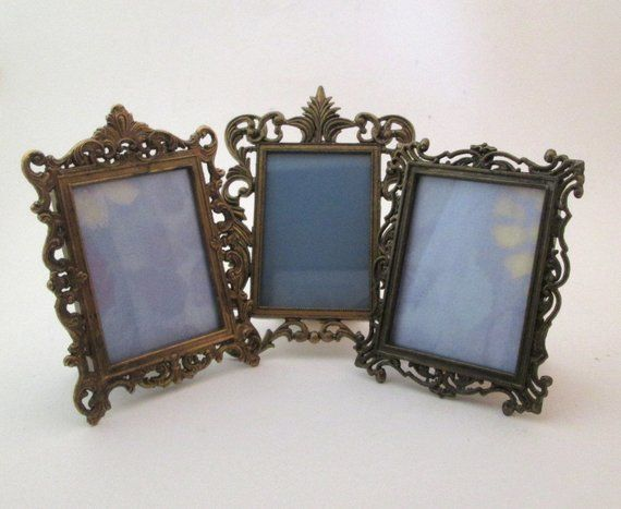 White Patina Photo Frame Set of 5 Decorative Round and Square Frames Classic