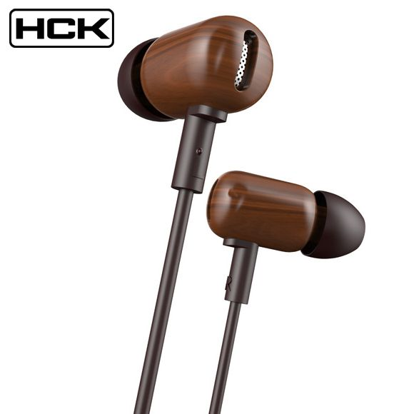 2016 New Original DZAT DF 10 In Ear Earphone Wood Headphones Bass HIFI Fever DIY Wooded Headset With Mic Universal Free Shipping