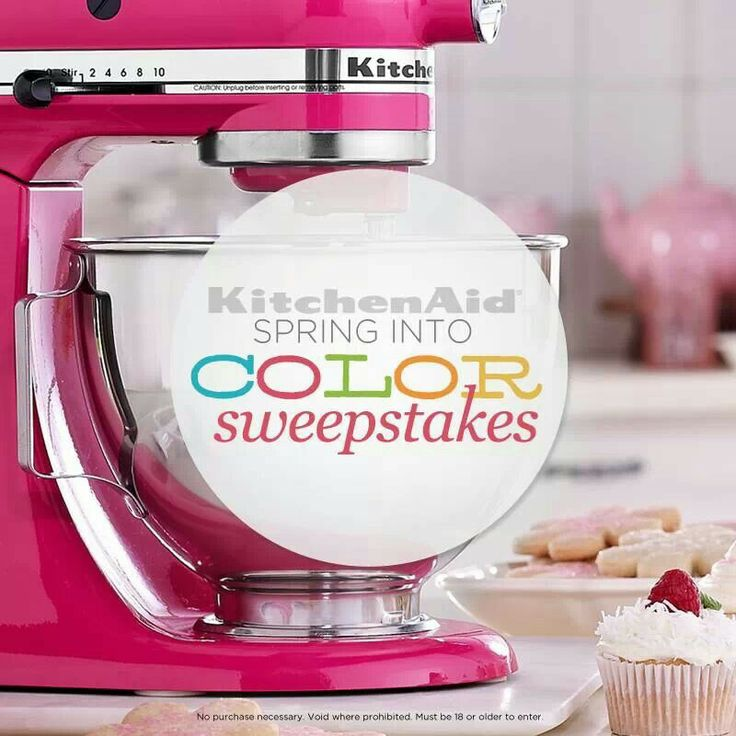 Pin to win QVC KitchenAid Spring into Color sweepstakes