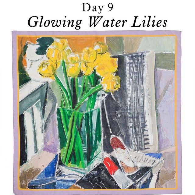 ARGO March Scarves Campaign Day 9 - Glowing Water Lilies Scarf