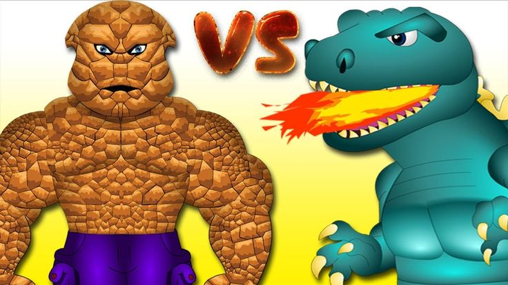 Finger Family (Stone Man vs Godzilla) / Superheroes Nursery rhymes / Fin...