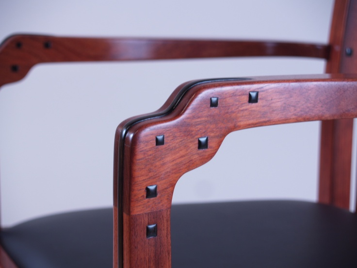 Greene And Greene Chair, Reproduction By William Ng Woodworks. Detail.