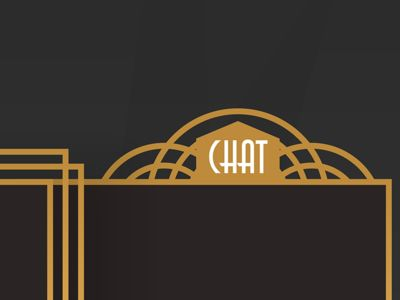 A #web art deco chatbox, for a Secret® project. More shots from this series coming up. #creative #artdeco #design