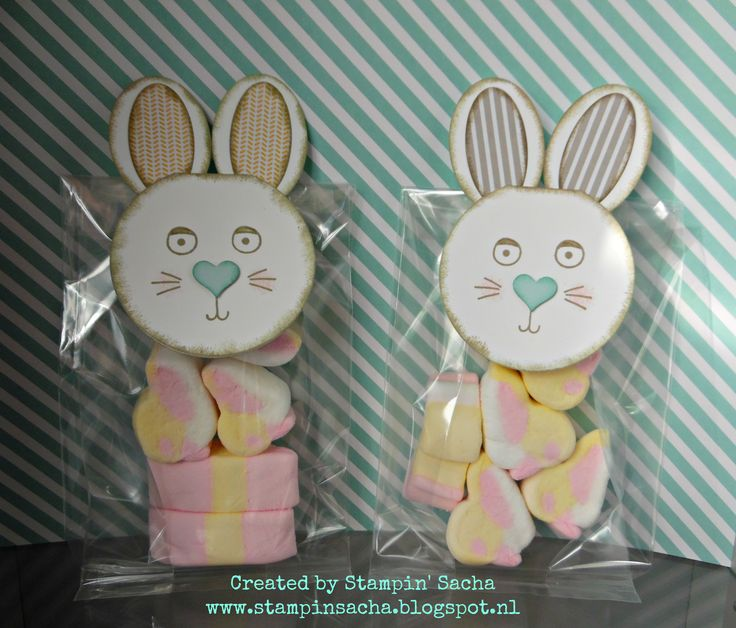 Stampin' Sacha - Stampin' Up! - Annual Catalog 2015/2016 - Occasions Catalog 2016 - Punch Art - Playful Pals - Gusseted Cellophane Bags - Paas Traktatie jongens (Easter Treats boys) #2